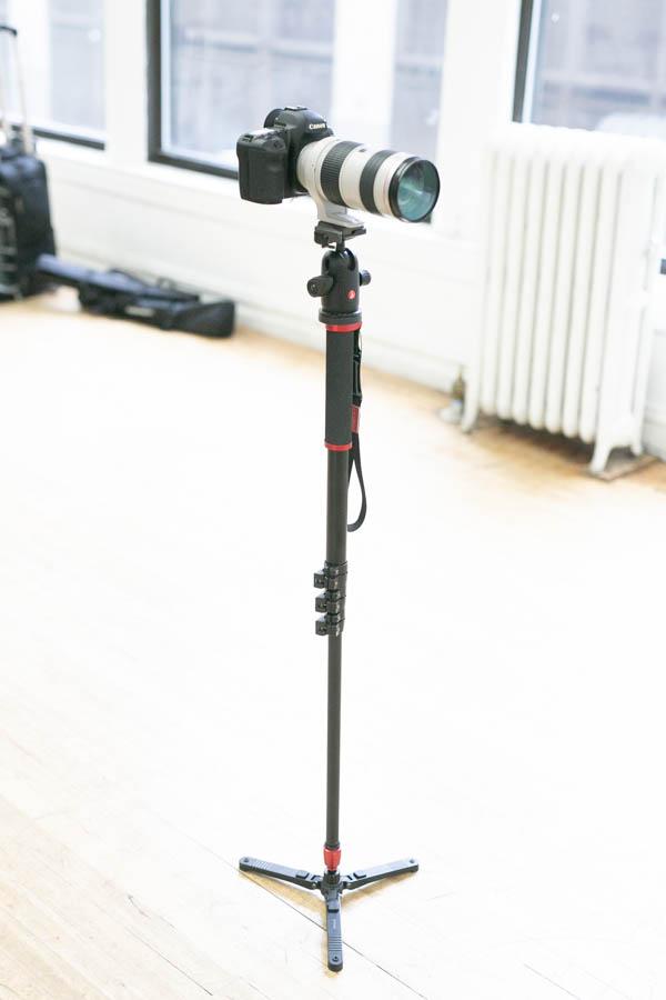 70-200mm lens on monopod