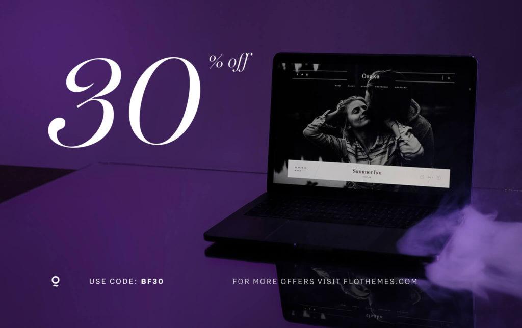 black friday website template sale
