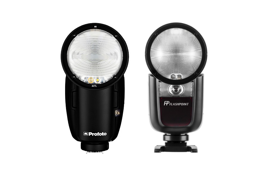 profoto a1 godox v1 flash units