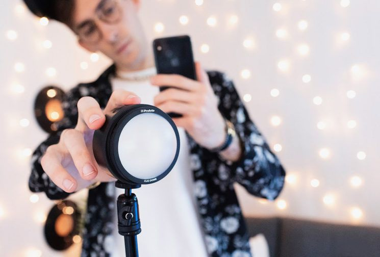social media influencers profoto c1 smartphone camera flash
