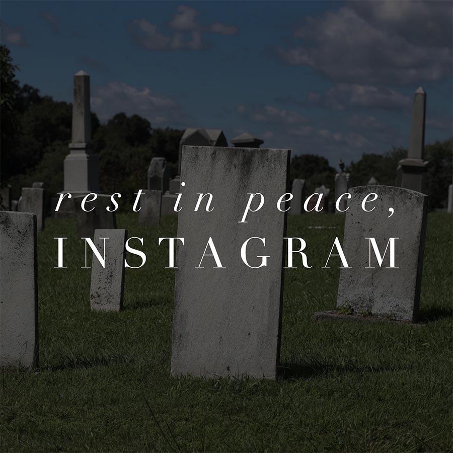 instagram dead for photographers