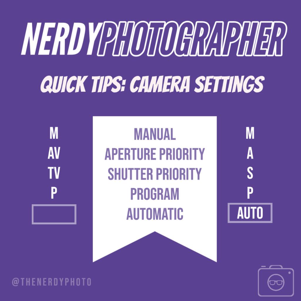 photography basics camera modes