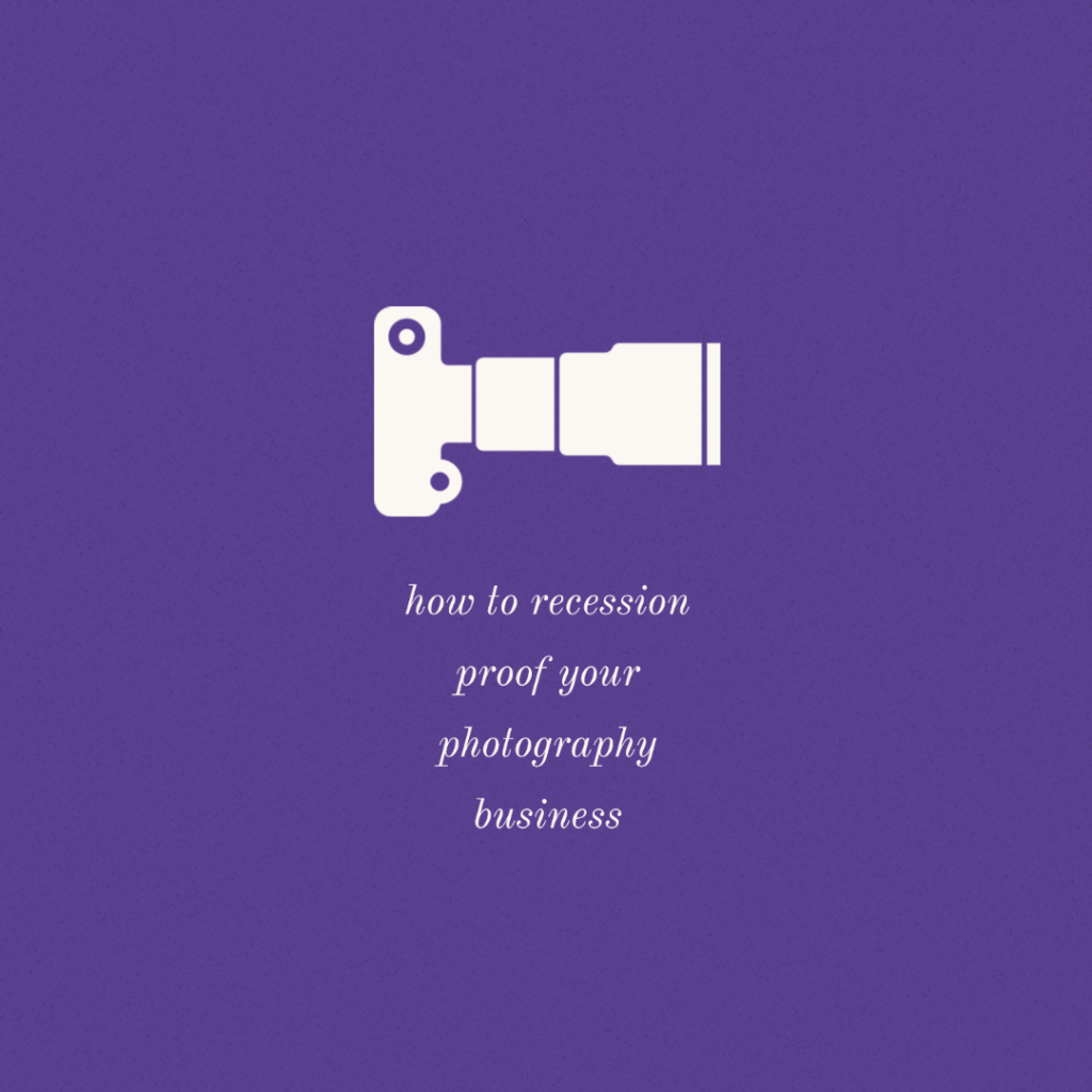 recession proof photography video business
