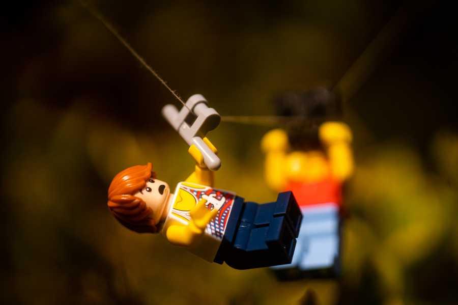 lego minifigure photo shoot