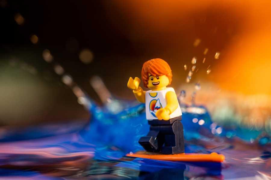 lego minifigures photo shoot