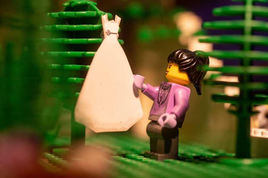lego wedding bride dress