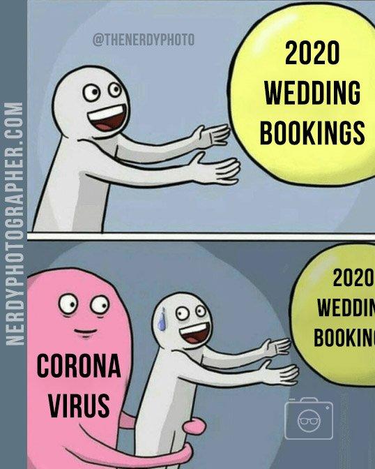 coronavirus wedding photography meme