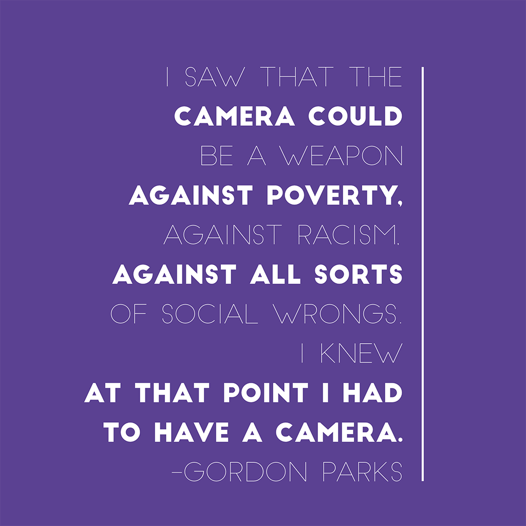 gordon parks quotes about photography
