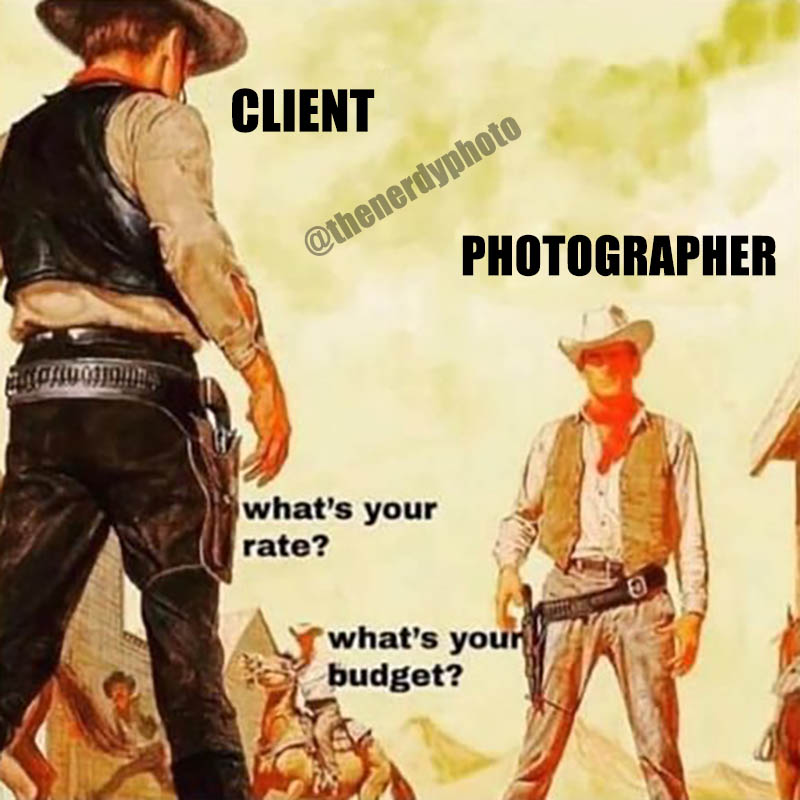 photography budgets vs. rates