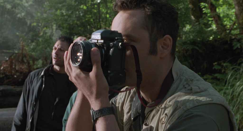 Vince Vaughn as photographer in the movie Lost World