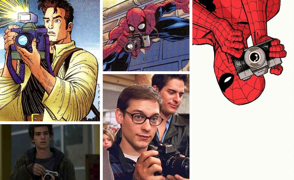 fictional photographers in comic books - peter parker