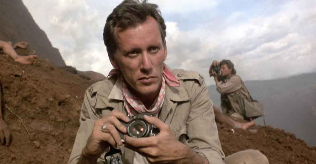 James woods as fictional photographer Richard Boyle in the movie Salvador