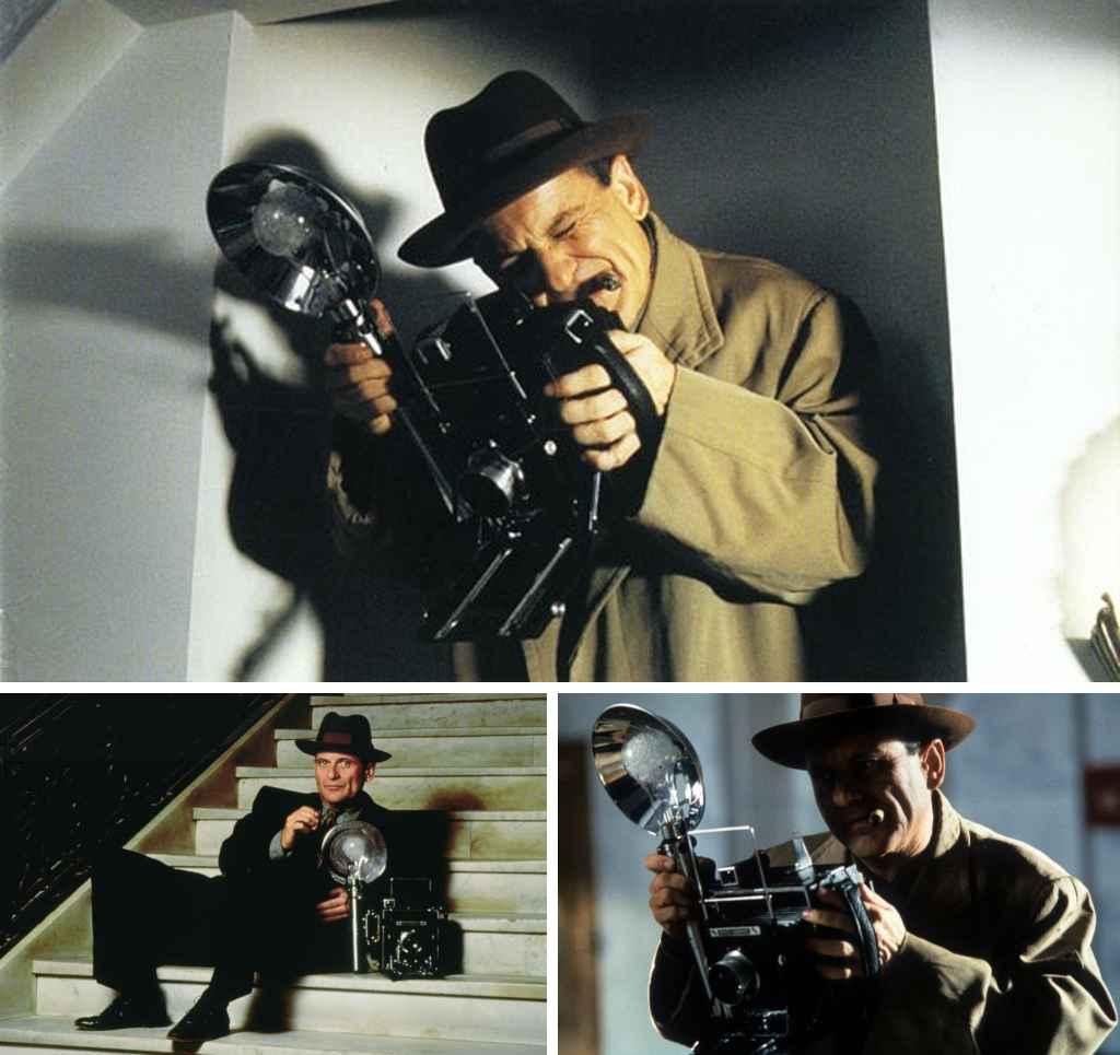 Fictional photographers - Leon Bernstein played by Joe Pesci in Public Eye