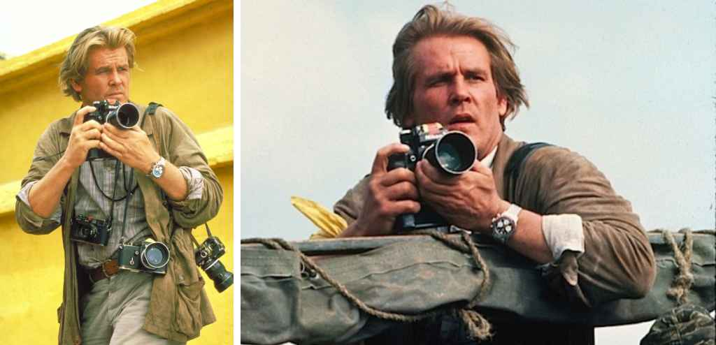 Nick Nolte as fictional photographer Russell Price in the movie Under Fire