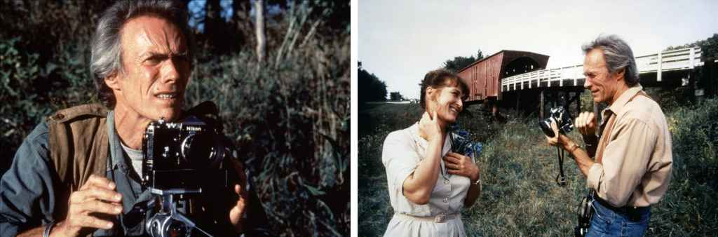 Clint Eastwood as photographer in Bridges of Madison County